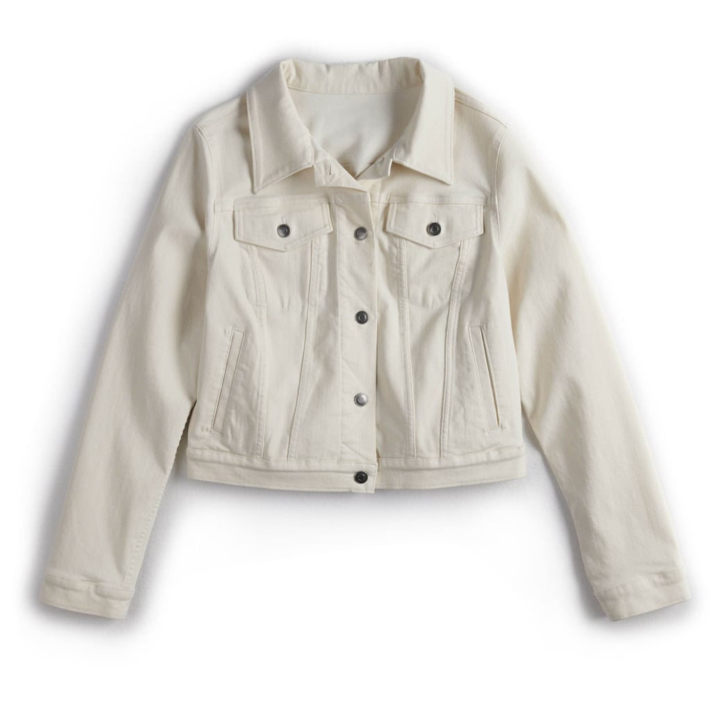 POPSUGAR Denim Cropped Jacket