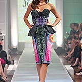 Miranda Kerr is always a no-brainer when it comes to fabulous fashion, but this Romance Was Born dress was seriously on another level of greatness. It's got everything: print, neons, a peplum, a bustier . . . yet it's not OTT. It's magic — pure fashion magic.