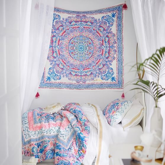 Lilly Pulitzer Tassel Tapestry Best Dorm Essentials From