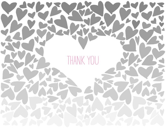 Ombre Thank You Card