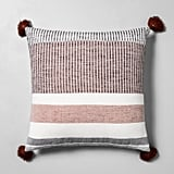 Striped Throw Pillow in Sour Cream / Rust / Black