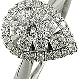 EWA 18ct White Gold Pear Shaped Diamond Cluster Engagement Ring