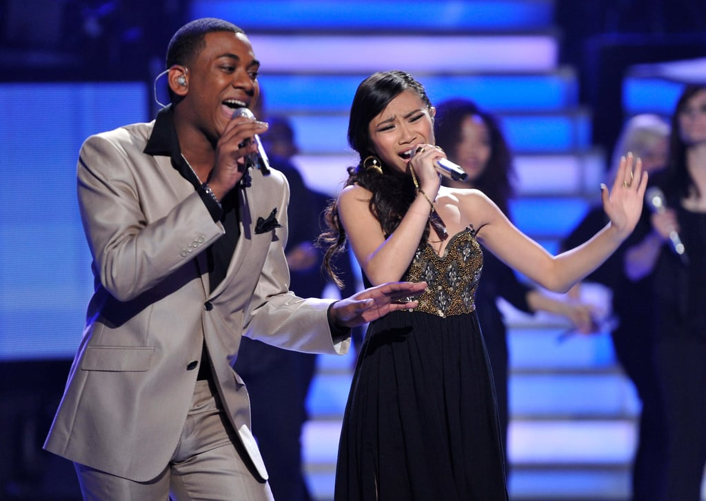 Joshua Ledet and Jessica Sanchez were paired for their duet.