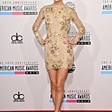 2012: Taylor Swift Had Legs For Days in a Gold Mini Dress