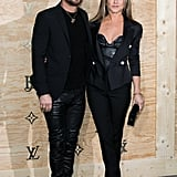 The duo showed up for a Louis Vuitton dinner in Paris in 2017 wearing head-to-toe black. Justin went with a classic blazer while Jen did the same, though she styled hers over a leather corset top.