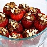 Chocolate Almond Quinoa Stuffed Strawberries