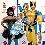 Tori Spelling and Her Family as a Fairy, a Princess, and Wolverine