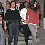 Tom Cruise and Katie Holmes see Russell Brand's wife's show.