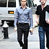Leighton Meester and Penn Badgley Shoot Gossip Girl