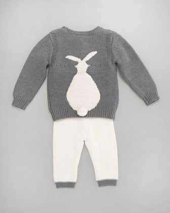 He (or she!) will undoubtedly be the best dressed baby in town in Stella McCartney's Thumper Sweater and Hettie Leggings set ($95).