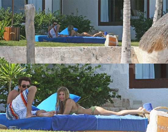 Fergie Bikini Photos, Josh Duhamel Shirtless in Cancun for Valentine's Day