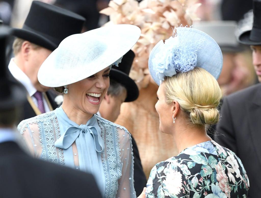 Kate Middleton and Zara Tindall at Royal Ascot in 2019