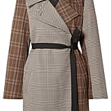 MM6 Maison Margiela Patchwork Checked Crepe Wrap Jacket