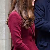 Kate Middleton waited outside the building.