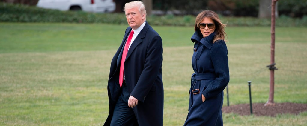 Melania Trump's Boots Magically Repel the Grass and Dirt Beneath Her Feet — Here's Proof