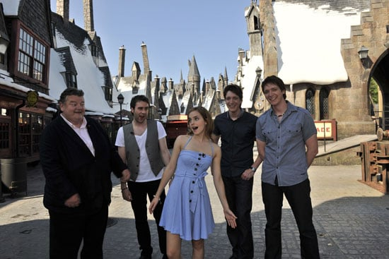 Pictures of Emma Watson and Harry Potter costars at The Wizarding World of Harry Potter Due to Open 18 June 2010