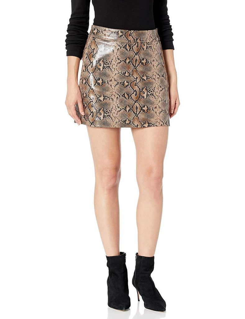 A Vegan Leather Skirt