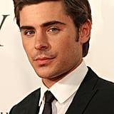 Zac Efron wore a dark suit for The Lucky One event.