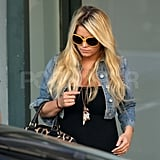Jessica Simpson out during pregnancy rumors.