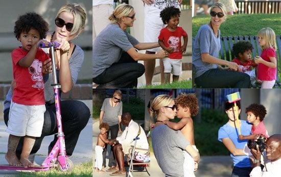 Photos of Heidi Klum With Kids, Project Runway Season 6 Delayed Until January 2009