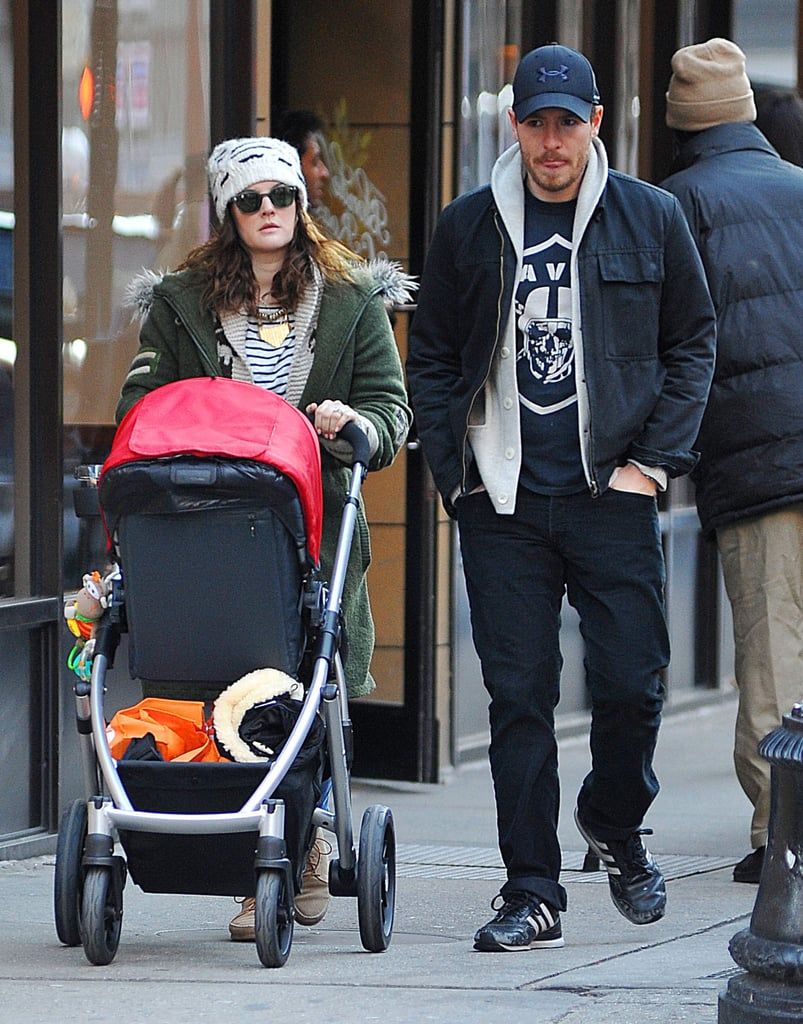 "Drew Barrymore Takes a Sunday Stroll With Will and Her ""Crush"" Olive"