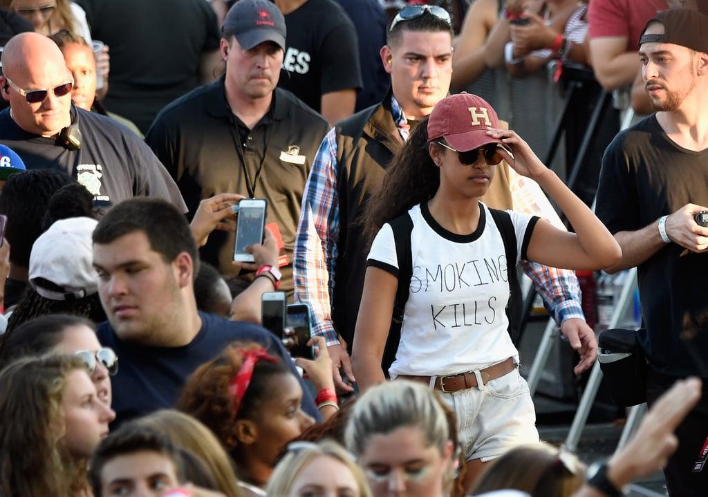 Malia Obama at the Made in America Festival 2016
