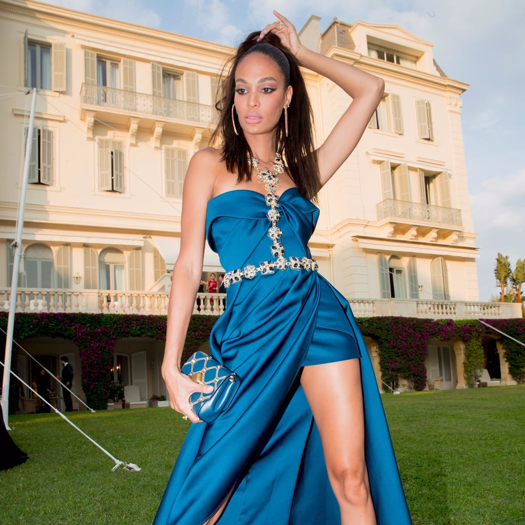 Joan Smalls Walked the Cannes Red Carpet in a Bejewelled Harness