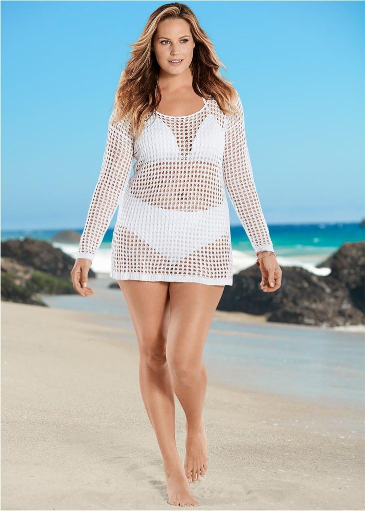 c8b3d4903c Venus Crochet Tunic Cover Up | Ashley Graham's White Bikini With ...