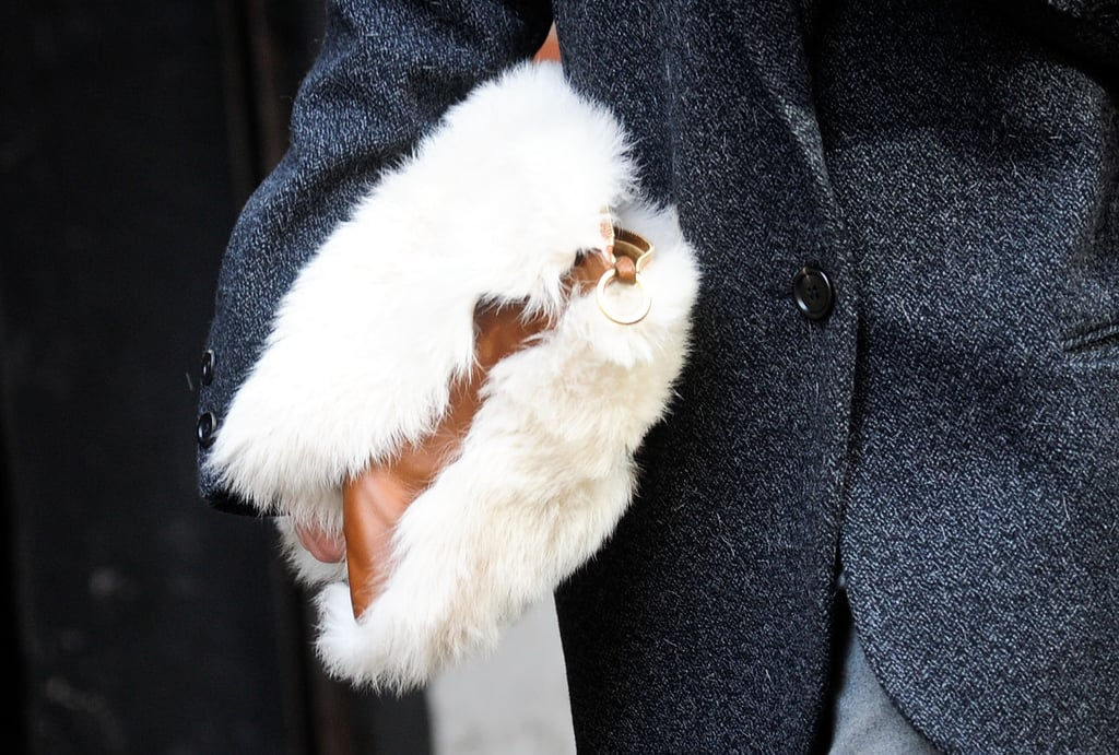 We're crushing on this plush clutch.
