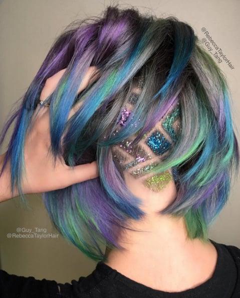 Glitter Undercut Hair Tattoo