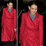 Give your Winter look an update with a statement coat à la Katie Holmes.
