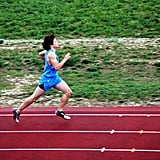 """""""This is Robbie making his goal of breaking five minutes in the 1600 while still in middle school. The quality isn't that good — I took the photo while screaming my head off."""""""