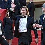 Brad Pitt wore a tuxedo to the Cannes premiere of Killing Them Softly.