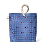 Flag Whale and Gingham Wine Tote
