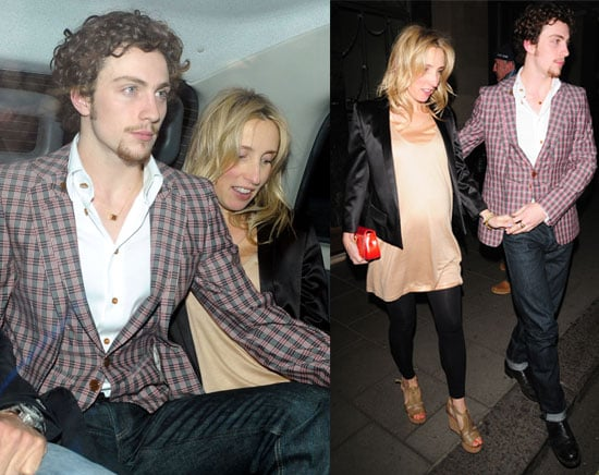 Pictures of Engaged Couple Aaron Johnson and Pregnant Fiancee Sam Taylor Wood Out in London before Cannes, Chatroom Trailer