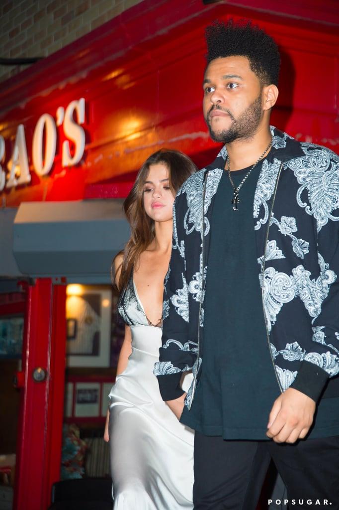 Selena Gomez Slip Dress With The Weeknd