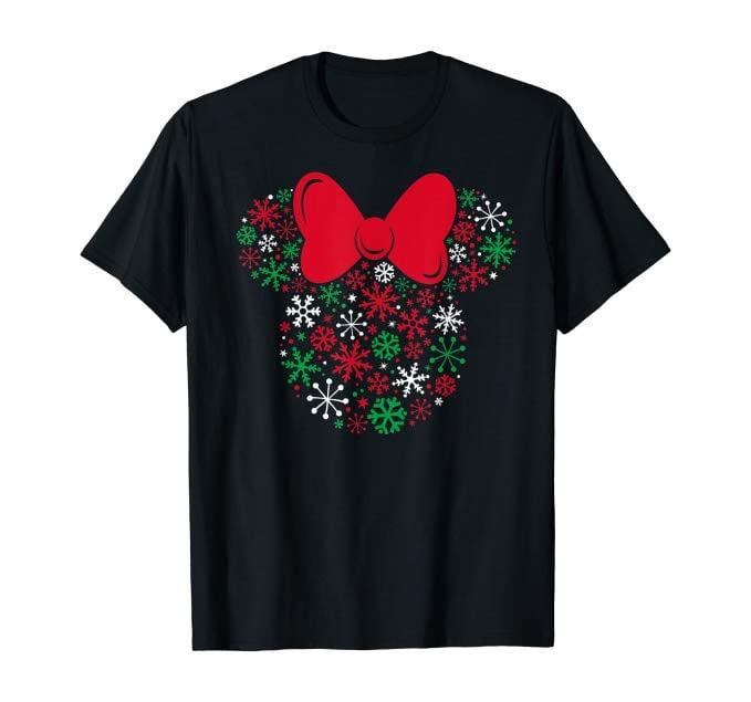 Disney Minnie Mouse Icon Holiday Snowflakes T-Shirt