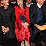 Katie Holmes at the Fendi Milan Fashion Week Show