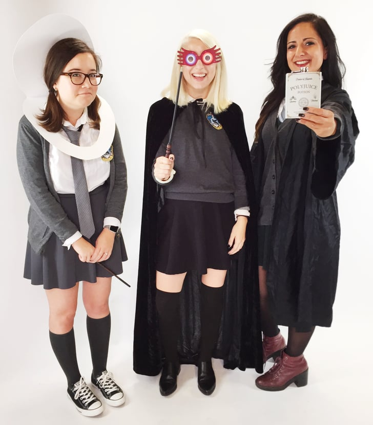Moaning Myrtle, Luna Lovegood, And Hermione As Bellatrix -9464