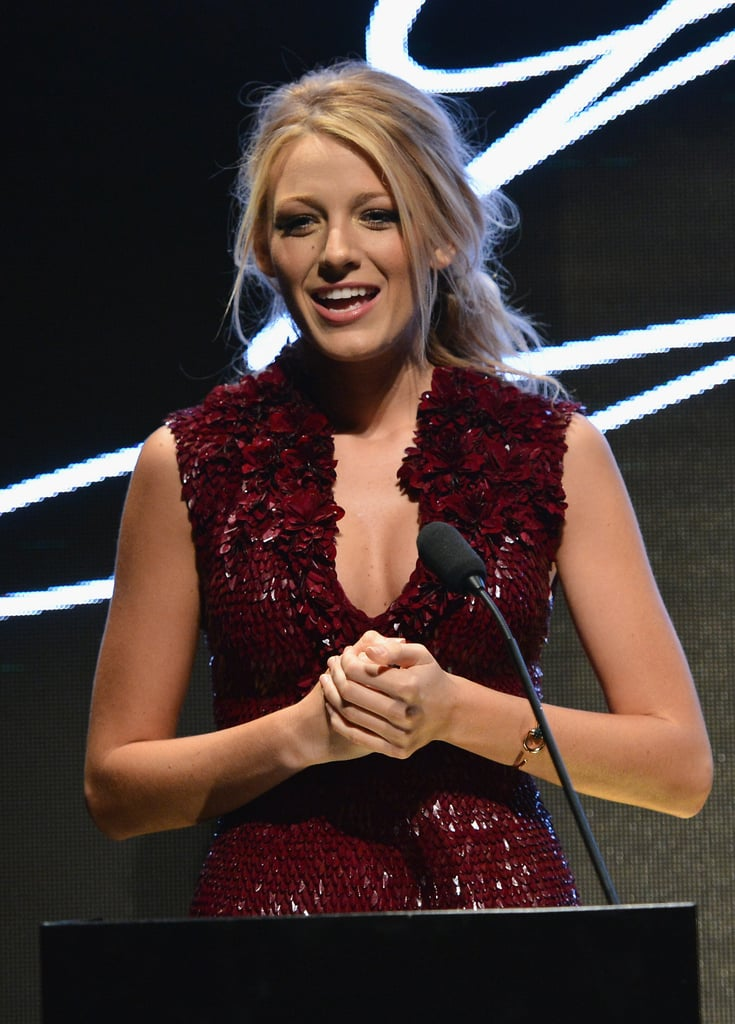 Blake Lively spoke at the Gucci fragrance launch in Venice.