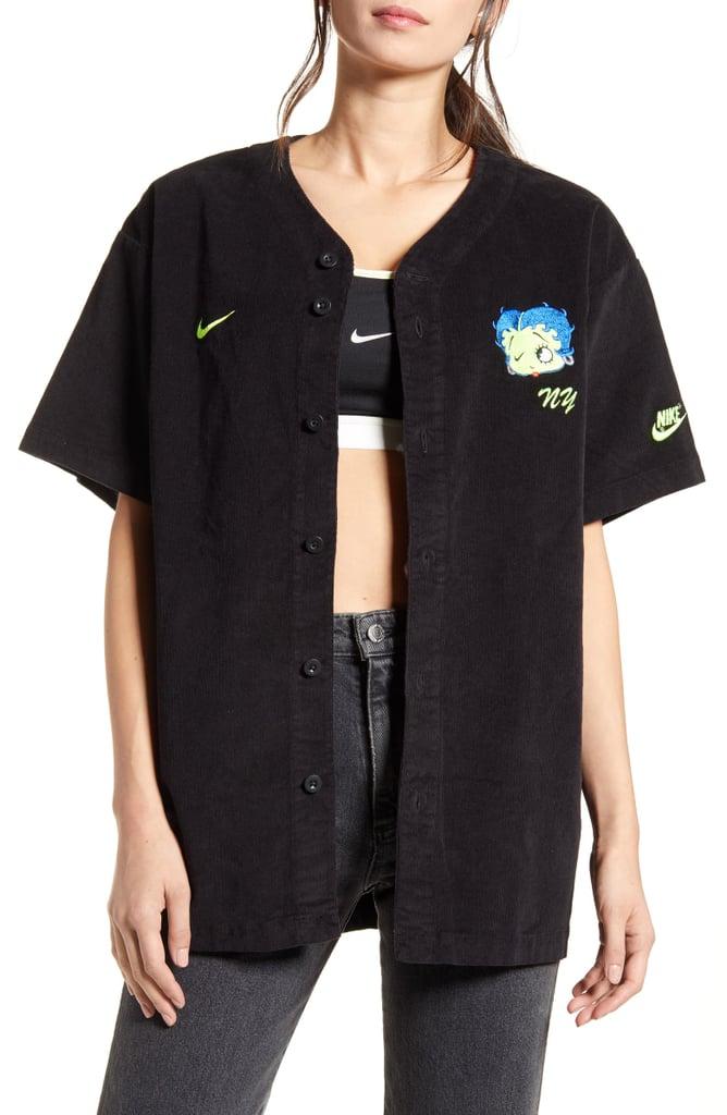 Nike x Olivia Kim Corduroy Baseball Jersey