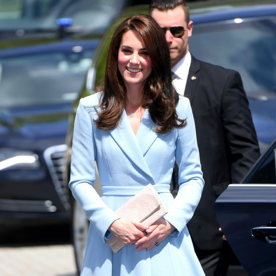 Kate Middleton Wears Blue Emilia Wickstead Coat