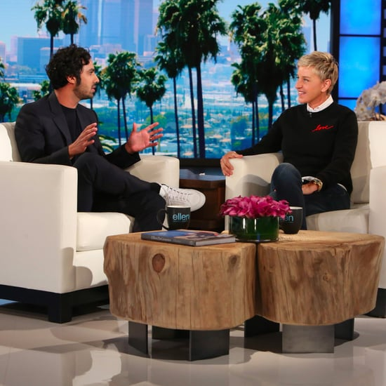 Kunal Nayyar on the Ellen DeGeneres Show April 2017