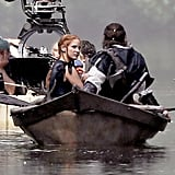 We're not above staring at the back of Hemsworth's head. And yes, that's costar Jessica Chastain.