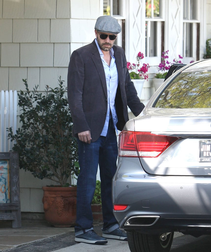 Ben Affleck got into his car in LA.