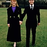 Prince Andrew and Sarah Ferguson Engagement Announcement, March 1986