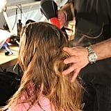 Kevin Ryan, lead stylist for TRESemmé, created a hairstyle that had tons of texture and a slight buckle.
