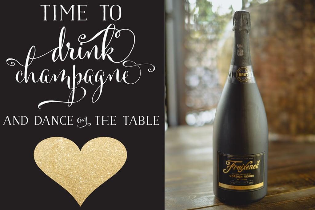 Free Champagne Printable Free Printable Wedding Favors POPSUGAR - Mini champagne bottle labels template
