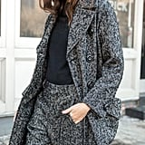 A Dark Tweed Option Will Keep You Nice and Warm Throughout the Winter