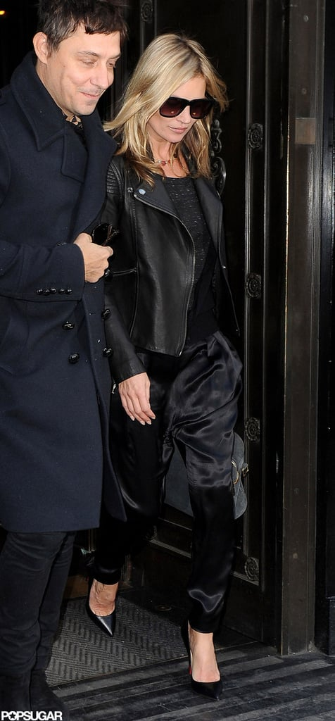 Jamie Hince and Kate Moss left The Wolseley.